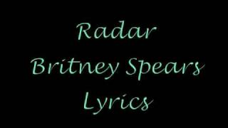 Radar Lyrics Britney Spears