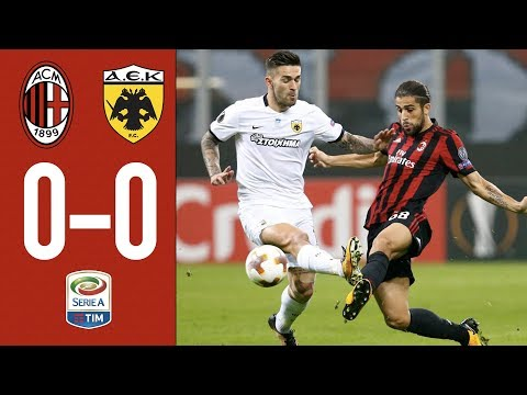 The Rossoneri can't break the deadlock after 90' - AC Milan 0-0 AEK Athens