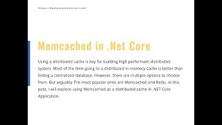 Memcached as Distributed Cache in .Net Core Application