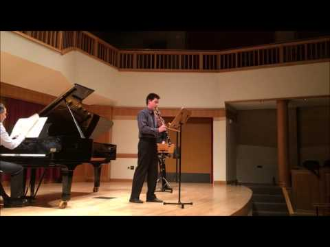 Here is a video of me playing Nielsen's Clarinet Concerto for my prescreen recordings to audition for grad school.