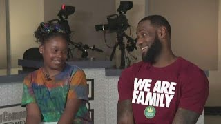 EXCLUSIVE | LeBron James sits down with WKYC's Amani Abraham inside I PROMISE School's new Kaulig Co