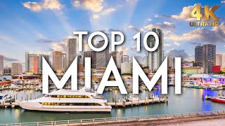 TOP 10 Things to do in MIAMI | Florida Travel Guide 4K