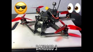 "????Catalyst Banggod 3"" Freestyle Racing Drone- ????Jon E5 FPV Build Review"