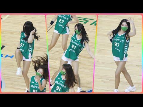 [4K] 치어리더 손현미 직캠 (cheerleader) - 특별공연(BTS - Dynamite) @남자농구(…