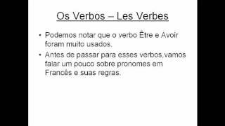 Apresentação,verbos être e avoir + regras em Francês