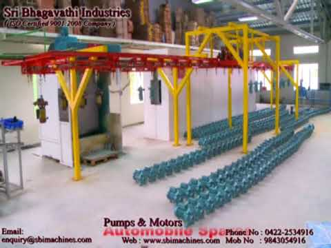 Overhead Conveyor Paint Booth