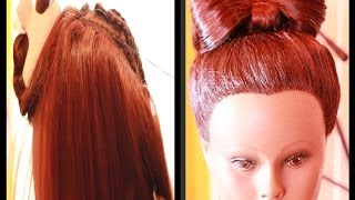 Universal Sew In Weave Updo w/ Bow- Prom Hair Style Idea  2014