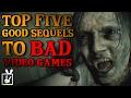 Top Five Good Sequels to Bad Games
