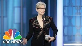 Meryl Streep Jimmy Fallon Hugh Laurie Get Political At Golden Globes  NBC News