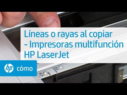 Líneas o rayas al copiar -- Impresoras multifunción HP LaserJet