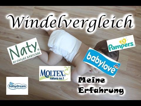 Windelvergleich - Pampers - Naty - babylove - Moltex - babydream I AnnCooki