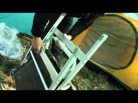 Кресло складное откидное Greenell FC-10. Видеообзор.