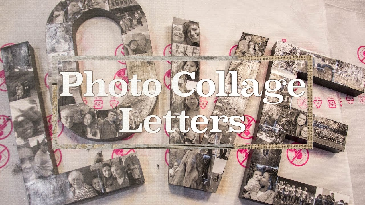 Photo Collage Letters