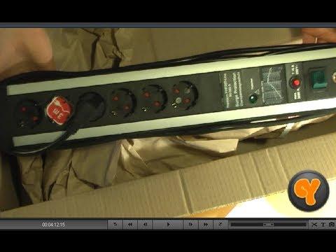 Brennenstuhl Premium Protect Line 60.000A 6-fach Steckdosenleiste mit Überspannungsschutz