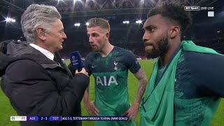 """""""I am so proud!"""" Toby Alderweireld and Danny Rose react to Ajax 2-3 Spurs"""