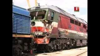 Поезд столкнулся с бетономешалкой - подробности (ТРК МОГИЛЕВ)