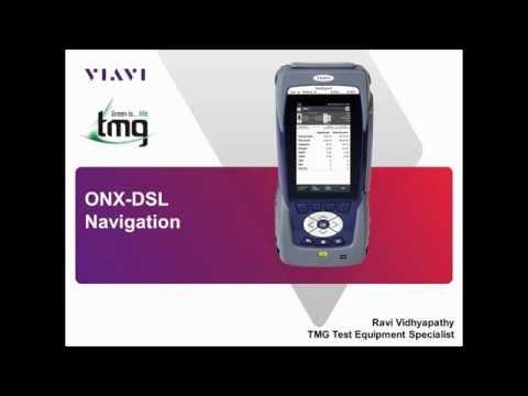 Video: VIAVI ONX DSL Basic Navigation - TMG Test Equipment