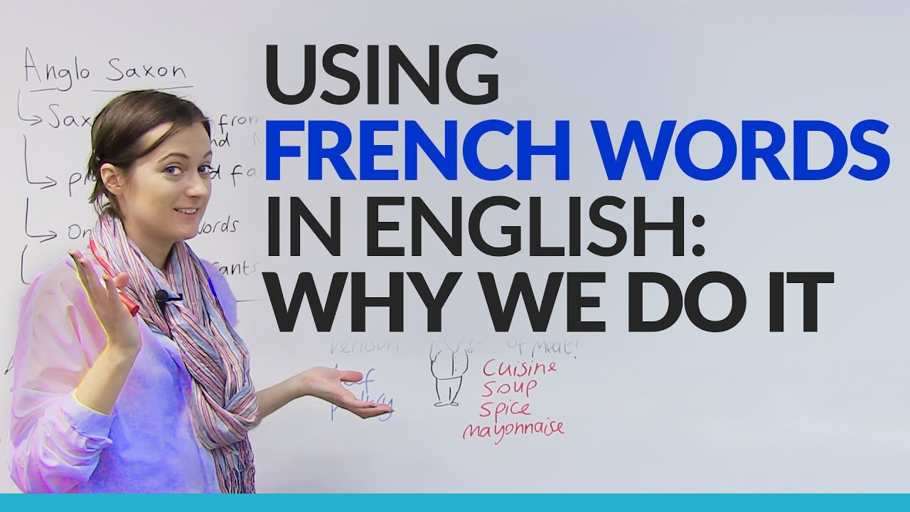 Formal Informal Vocabulary Using French Words In English Engvid