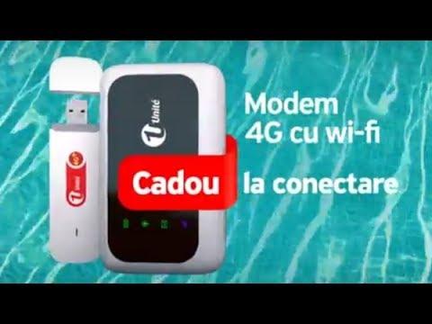 Internet Nelimitat - modem cadou și bonus până la 120 GB, după 1 an în rețea.