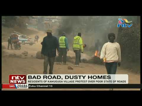 Residents of Kamuguga village protest over poor state of roads