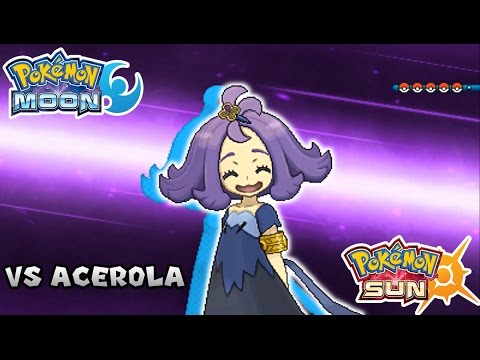 Pokemon Sun & Moon - Battle! Elite Four Acerola (HQ)