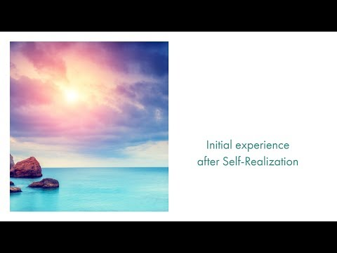 Experience after Self-Realization