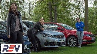 The REV Test: Small estate cars. Peugeot 308 SW vs Skoda Octavia estate vs Volkswagen Golf estate