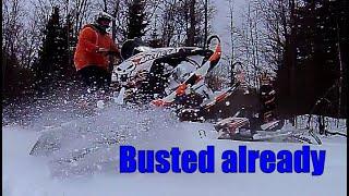 I broke my snowmobile already 800 sks