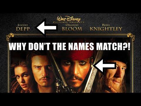 Proč nejsou jména na filmových plakátech nikdy ve správném pořadí?