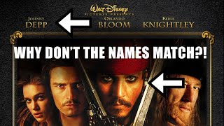 Why Dont Movie Poster Names EVER Line Up?!