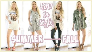 HOW TO TRANSITION OUTFITS FROM SUMMER TO FALL! | OLIVIA ZAPO
