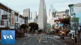 Coronavirus: Drone Footage of San Francisco's Empty Streets