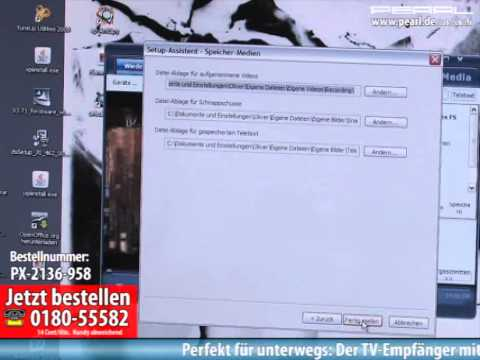 """auvisio DVB-T Mini-Receiver """"WhiteStar II"""" mit Fernbedienung, USB 2.0"""
