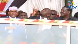 ODM, Jubilee 'collabo' as Raila Odinga, Murkomen and Duale share light moment || Jamhuri Day 2019