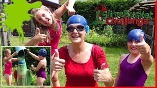 Slime Bucket Challenge ЧЕЛЛЕНДЖ ВЕДРО СЛИЗИ на ГОЛОВУ детский канал.
