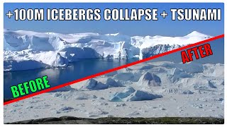 Incredible GLACIER COLLAPSE & TSUNAMI WAVE Caught on Camera! | Greenland's Melting Ice