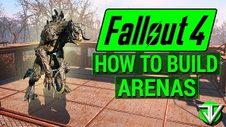 FALLOUT 4: How To Start ARENA BATTLES in Wasteland Workshop DLC! (Everything About Building Arenas)