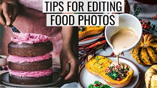 HOW TO EDIT FOOD PHOTOS FOR INSTAGRAM | Part I