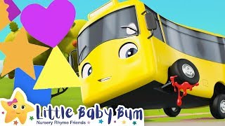 Learn The Shapes Song - Go Buster | Nursery Rhymes | Baby Songs | Kids Song | Little Baby Bum