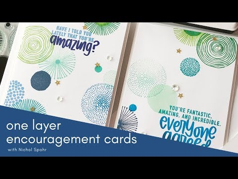 Simon Says Stamp March Card Kit  | One Layer Encouragement Cards + GIVEAWAY