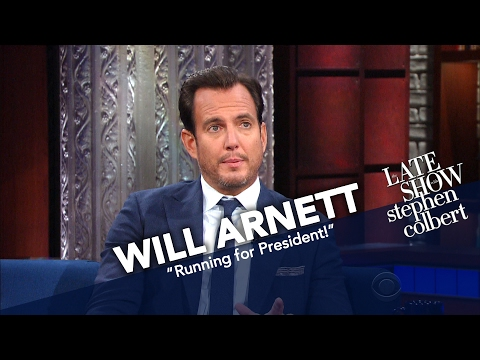 Will Arnett And Stephen Colbert: Running For President?