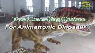 preview picture of video 'Two Controlling Options For Animatronic Dinosaurs'