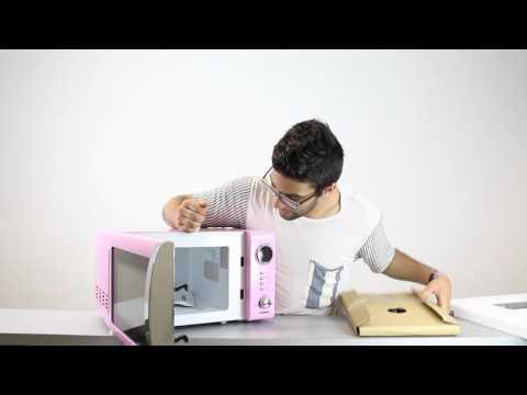 Melissa | 700 Watt Mikrowelle Classico in pink (Unboxing) | test.net