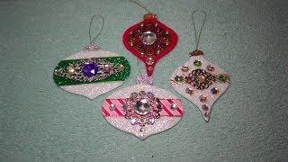 DIY Gorgeous Embellished Felt Christmas Ornaments! EASY!