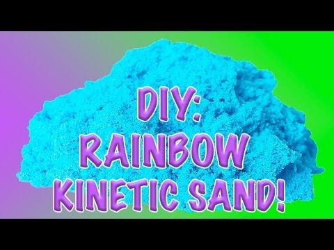 DIY: How to Make Homemade Glittery & Colorful Kinetic Sand!