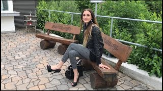 Lara walking in High Heels Platform Plateau peep toe pumps Gift spazieren zum Biergarten ootd