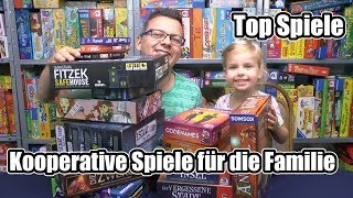 Top Spiele - Kooperative Spiele für Familien - Gemeinsam gewinnen oder verlieren