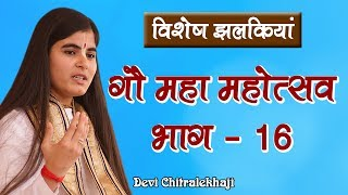 गौ महा महोत्सव भाग - 16  गौ सेवा धाम Devi Chitralekhaji