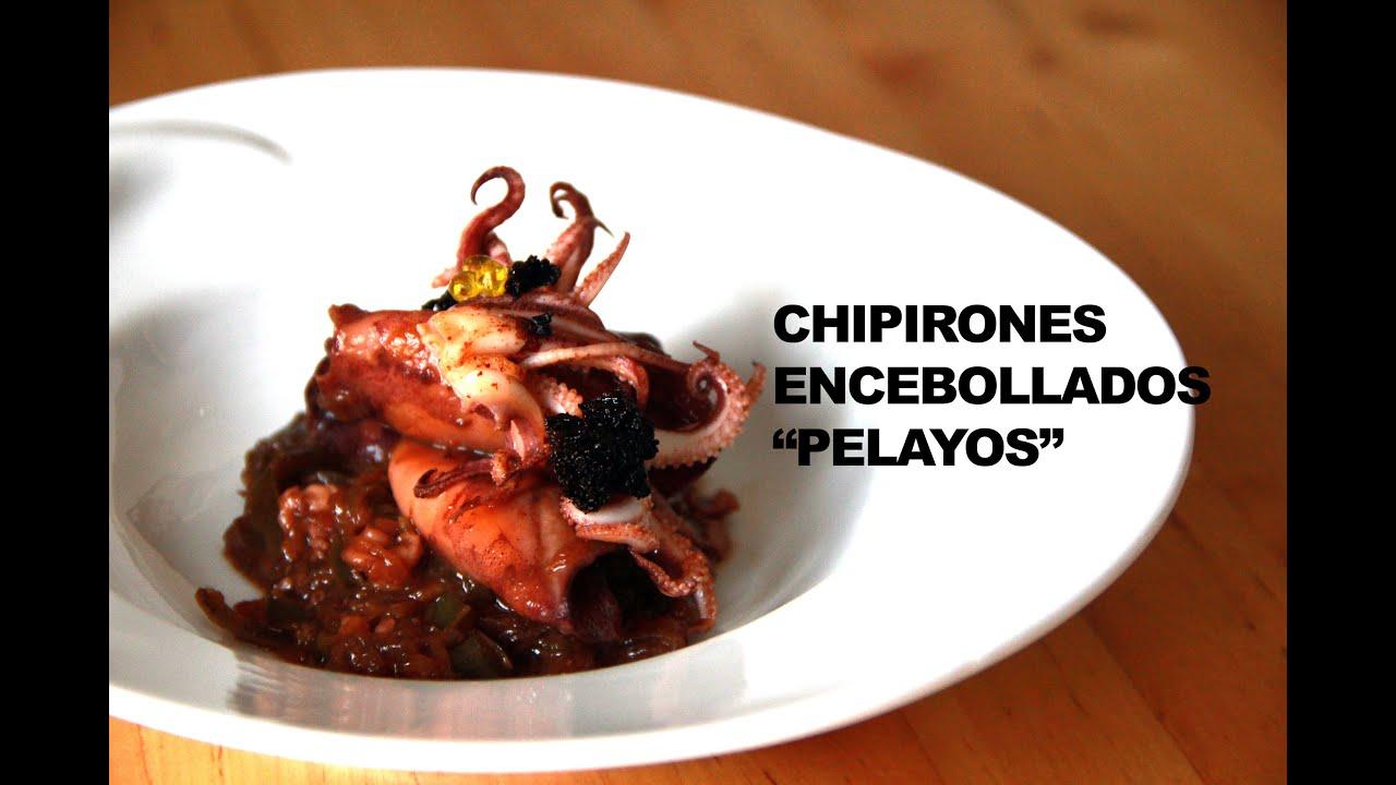 """CHIPIRONES ENCEBOLLADOS """"PELAYOS"""""""