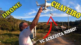 DRONE busca CHAVE da PORTA para VISITANTE wanzam fpv